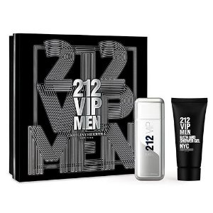Kit 212 VIP Men Carolina Herrera Eau de Toilette - Perfume Masculino 100 ML + Gel de Banho 100 ML