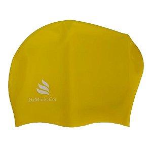 Touca de Natação Afro P Daminhacor Cores (amarelo azul branco laranja e roxo)