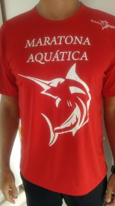 Camiseta Dry fit Maratona Aquática Vermelha