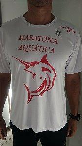 Camiseta Dry fit Maratona Aquática Branca