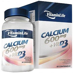 Calcium 600 + Vitamina D3 (60 Comprimidos) - VitaminLife