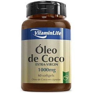Óleo de Coco Extra-Virgin 60 Cápsulas - VitaminLife