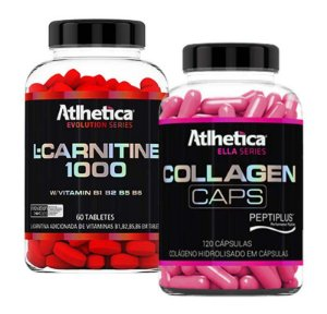 L-Carnitina 1000mg 60 tabs + Collagen 120caps - Atlhetica Nutrition