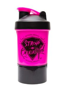 Coqueteleira Strong Is Beautiful (400ml) Rosa - Integralmédica