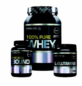 100% Pure Whey+L-Glutamine+Pro BCAA Bound