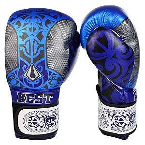 Luva de Boxe Metal Maori Azul