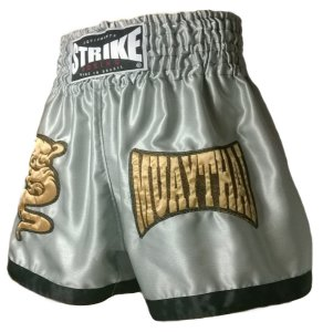 Shorts Muay Thai Cinza e Preto - Strike