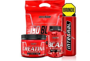 Kit Massa Muscular Iso Blend 907g + Creatina 150g + Bcaa top 120 caps - Integralmedica