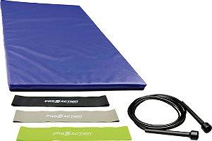 Kit colchonete 40X90 + corda slim + kit mini band