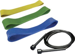 Kit Mini band leve + médio + forte + corda slim