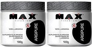 Combo com 02 unidades de Argipure 100% L-Arginina 100g - Max titanium