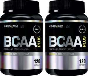 Combo com 02 unidades de  BCAA PLUS 120 caps - Probiotica