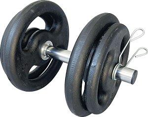 Kit treinamento 1 Barra oca 30 cm + 2 anilhas de 3 kg + 2 anilhas de 5 kg