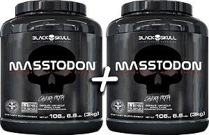 Combo 2 Potes Masstodon sabor Baunilha 3 kg cada - Black Skull