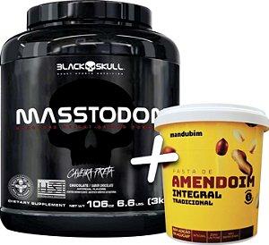 Masstodon 3 kg - Black Skull + Pasta de Amendoim 1 kg - Mandubim