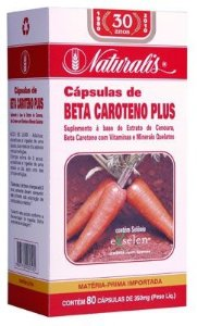 Beta Caroteno PLUS 80cáps 350mg Naturalis