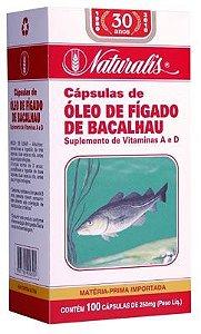 Óleo de Fígado de Bacalhau 100cáps 250mg Naturalis