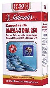 Ômega3 DHA 250 40cáps 500mg Naturalis