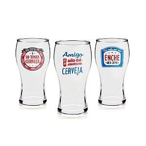 Conjunto de Copos - Amigo dá Cerveja