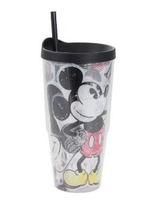 Copo com Canudo Tumber Mickey