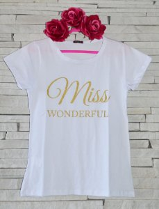 T-shirt Miss Wonderful