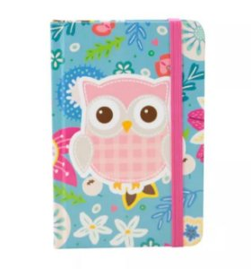 Caderno de Anotações Corujinha Floral