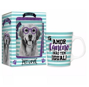 Caneca Pet Love - Golden