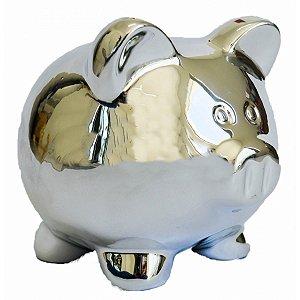 Cofre Cerâmica Metalizado - Pig Prata