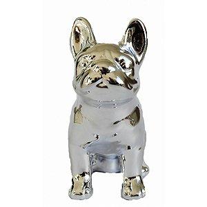 Cofre Cerâmica Metalizado - Pug Prata