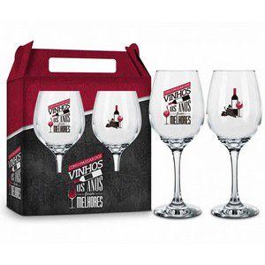 Conjunto Duas Taças Vinho - Com o Passar dos Vinhos