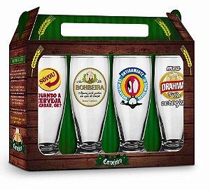 Conjunto Copos Cervejas Nacionais - Brasfoot
