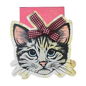 Bloco de Notas Recortado Gato - Carpe Diem