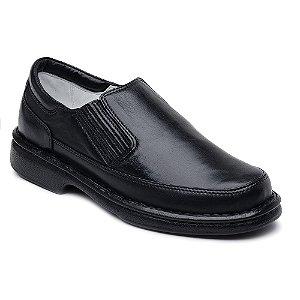 Sapato Conforto Masculino Ranster Couro Preto ou Marrom