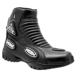 Bota Shoes Motociclismo Atron Cano Baixo Couro Preto