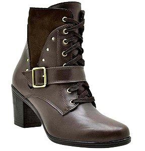 Ankle Boots Atron Couro Café