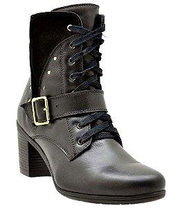 Ankle Boot Atron Couro Preto