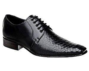 Sapato Social Bigioni Masculino Croco Preto