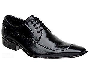 Sapato Social Bigioni Clássico com Cadarço Couro Preto