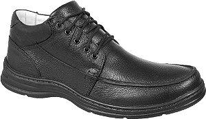 Sapato Abotinado Confortável BM Brasil Couro Preto