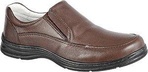 Sapato Confortável BM Brasil Couro Marrom