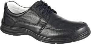Sapato Confortável BM Brasil Cadarço Couro Preto