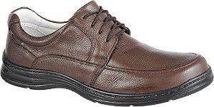 Sapato Confortável BM Brasil Cadarço Couro Marrom