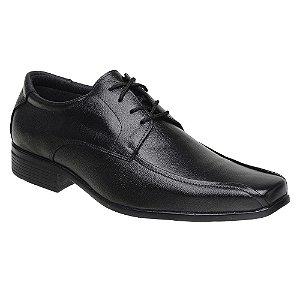 Sapato Social Masculino com Cadarço Couro Preto Torani SLZ