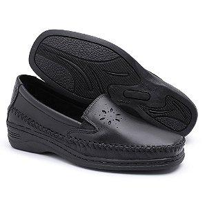 Sapato Comfort Pizaflex Feminino Preto