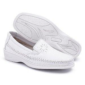 Sapato Comfort Pizaflex Feminino Branco