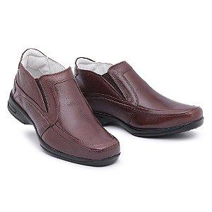 Sapato Torani Abotinado Couro Marrom