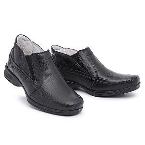 Sapato Torani Abotinado Couro Preto