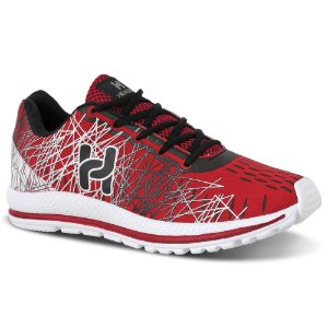 Tênis Masculino Caminhada Confortável Vermelho