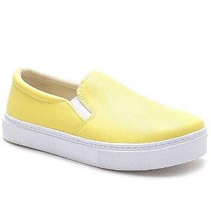 Tênis Slip On Feminino Amarelo Torani