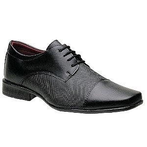 Sapato Social Torani Bari Preto com Cadarço